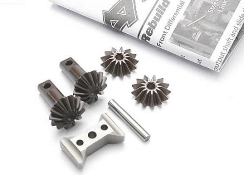 Traxxas Gear set differential (output gears (2)/ spider gears (2)/ spider gear shaft/ diff carrier support)