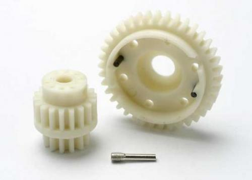 Traxxas Gear set 2-speed wide ratio (2nd speed gear 38T 13T-18T input gears hardware)