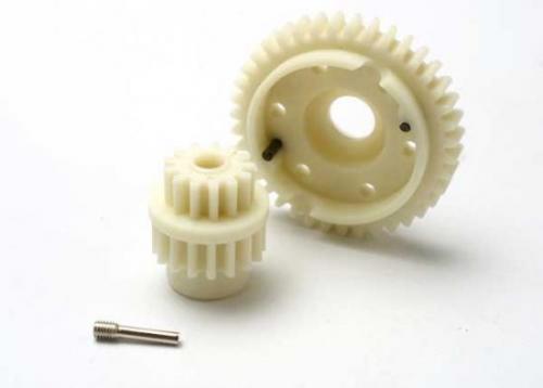 Traxxas Gear set 2-speed standard ratio (2nd speed gear 39T 13T-17T input gears hardware)
