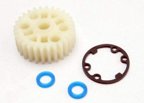 Traxxas Gear center differential (Revo)/ X-ring seals (2)/ gasket (1) (Replacement gear for 5414)