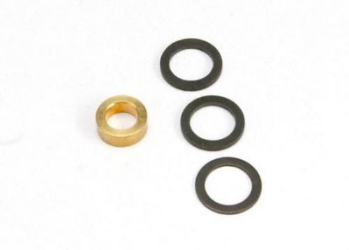 Traxxas Washer 7x10x1.0 (2) 7x10x0.5 (1) black steel (shims for flywheel spacing) Washer 5x8.2.8 brass (1) (shim for clutch bell spacing) for Revo Big Block Kit