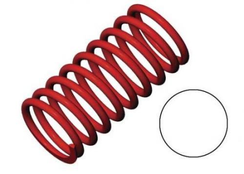 Traxxas Spring shock (red) (GTR) (2.9 rate white) (1 pair)
