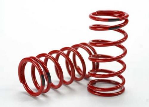 Traxxas Spring shock (red) (GTR) (4.4 rate black) (1 pair)