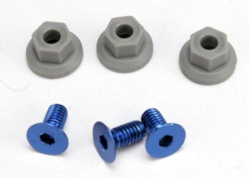 Traxxas Wing mounting hardware (4x8mmCCS (aluminum)(3)/ 4x7mm flanged NL (3)) ** CLEARANCE **