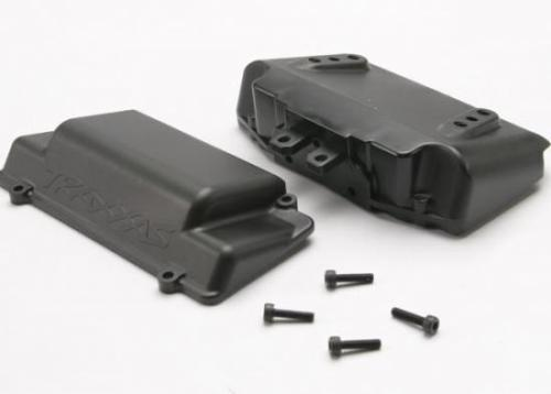 Traxxas Battery Box bumper (rear) (includes battery case with bosses for wheelie bar cover and foam pad)