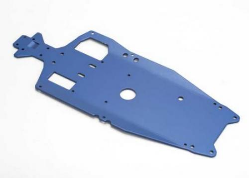 Traxxas Chassis 6061-T6 aluminum (3mm) (anodized blue)/ adhesive foam pad (1)