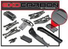 Traxxas Complete Exo-Carbon Kit Jato (includes rear mid-chassis battery covers receiver cover dirt guards suspension arms front bumper fuel tank cap)