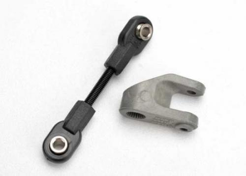 Traxxas Servo horn steering/ linkage steering (3x30 threaded rod)/ rod ends (2)/ hollow balls (2) ** CLEARANCE **