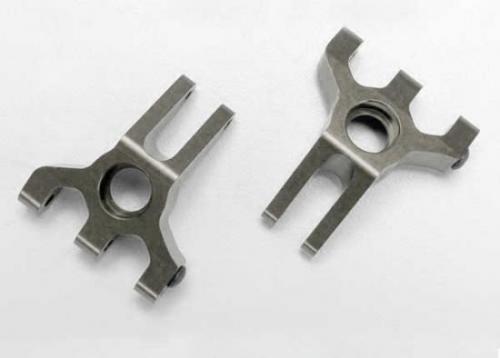 Traxxas 6061-T6 Titanium-Anodized Aluminum Stub Axle Carriers (rear)