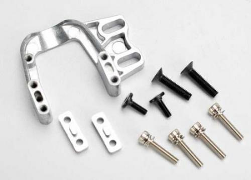 Traxxas Engine mount/ engine mount spacers (2)/ 3x15 CS with washers (4)/ 4x18 BCS (2)/ flathead engine mount screws 3x10 (2)