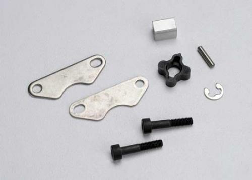Traxxas Brake pads (2)/ brake disc hub/ 3X15 CS (partially threaded) (2)/2mm pin (1)/ 4mm e-clip (1)