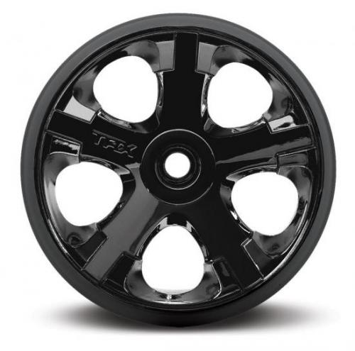Traxxas All-Star 2.8 Wheels (black chrome) (nitro rear/ electric front) (2)