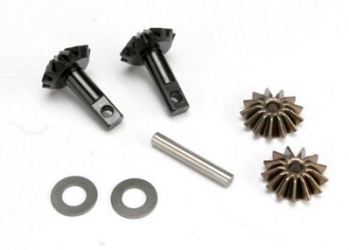 Traxxas Gear set differential (output gears (2)/ spider gears (2)/ spider gear shaft)