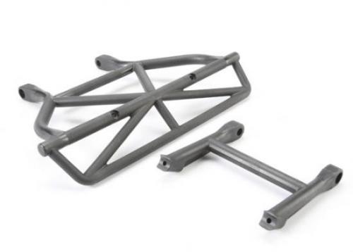 Traxxas Bumper rear/ bumper mount rear (black)