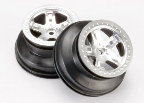 Traxxas Short Course Chrome SCT Wheels - Chrome Beadlock - 12mm Hex (2)