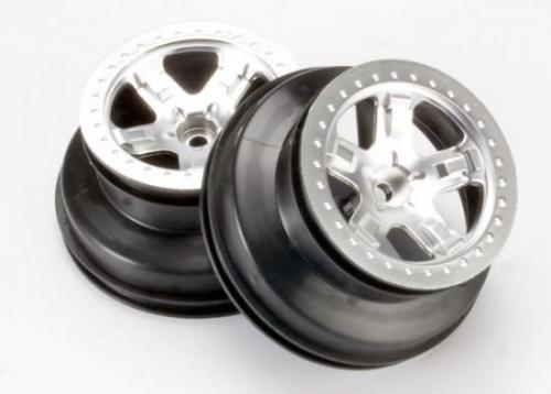Traxxas Short Course Chrome SCT Wheels - Chrome Beadlock - 12mm Hex (2) (2WD Front)