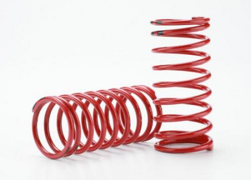 Traxxas Spring shock (red) (GTR) (2.0 rate double black stripe) (1 pair)