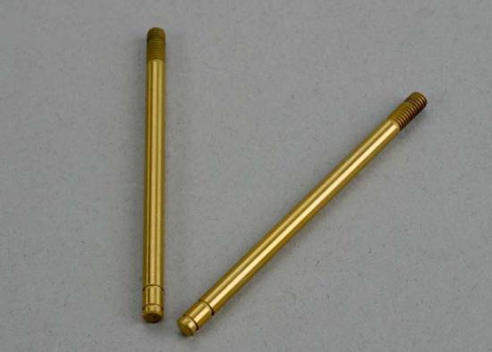 Traxxas Shock shafts hardened steel titanium nitride coated (front) (2)