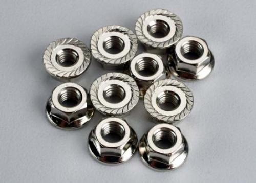 Traxxas Nuts 4mm flanged (10)