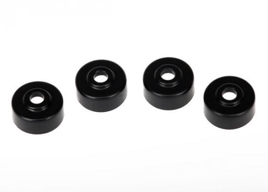 Traxxas Motor caps (4) (black)
