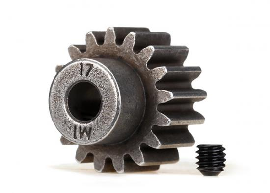 Traxxas Hardened Pinion Gear - 17T - 1 Mod Pitch - 5mm Bore (Compatible With Steel Spurs)