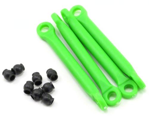 Traxxas Push rod (molded composite) (green) (4)/ hollow balls (8) ** CLEARANCE **