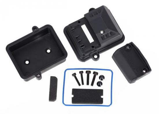 Traxxas Box receiver (sealed)/ foam pads/ 2.5x12mm CS (2)/ 3x6mm CS (2)/ 3x12mm BCS (2)