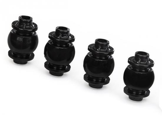 Traxxas Damper balls anti-vibration gimbal (4) (yellow dot)/ camera mount (4)