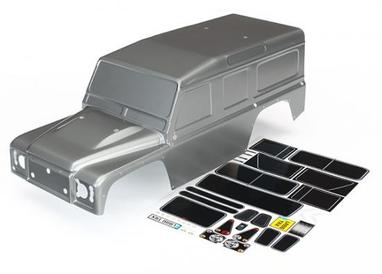 Traxxas Body Land Rover Defender graphite silver (painted)/ decals