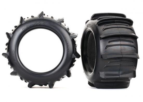 Traxxas Tires paddle 3.8 (2)/ foam inserts (2)
