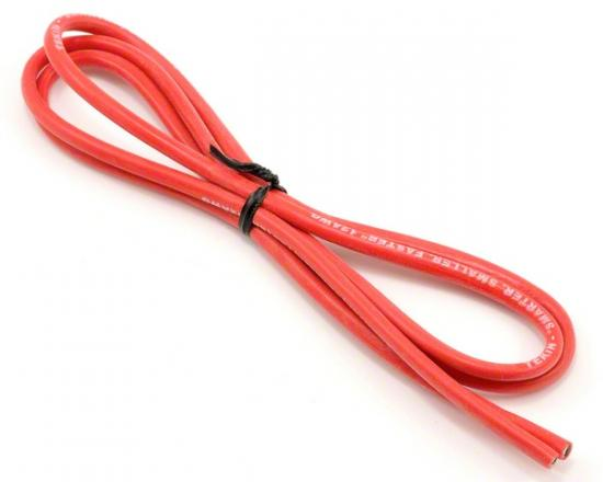 Tekin 12awg Silicon Power Wire 3 Red