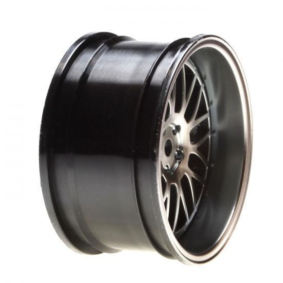 Vaterra Touring Car Rear Gun Metal Chrome Deep Mesh Wheel 54x30mm (2)