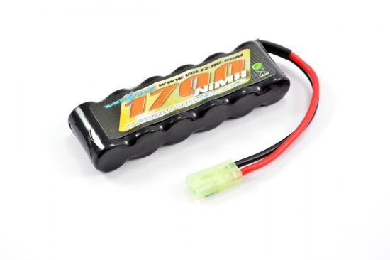 Voltz 7.2v 1700mAh Mini Pack with Mini Tamiya (Fits Maverick Ion Etc) - Upgrade For MV28103