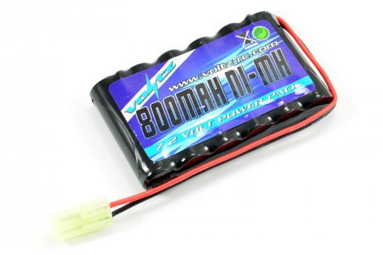 Voltz 7.2V 800mah Flat AA Battery Pack - Mini Tamiya Plug (Replaces Hobby Engine HE00011)