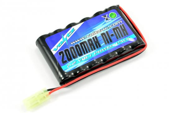 Voltz 7.2V 2000mah Flat AA Battery Pack - Mini Tamiya Plug (Upgrade for Hobby Engine HE00011)