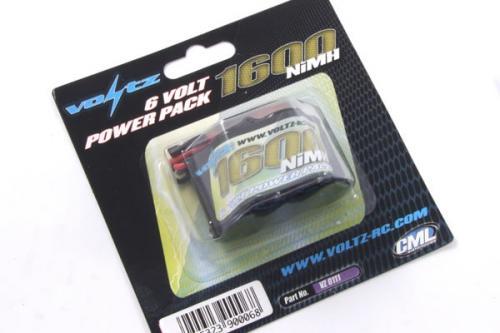 Voltz High Power 1600mAh 6v Receiver Hump Pack
