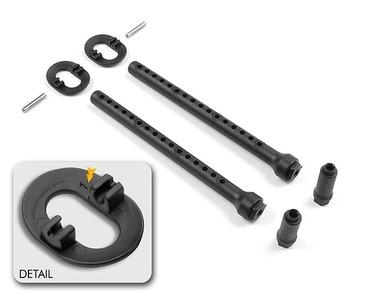 XRay Front Body Mount Set +1mm Height