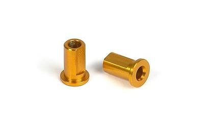 XRay T2 Alu Nut For Susp. Holder - Orange (2)