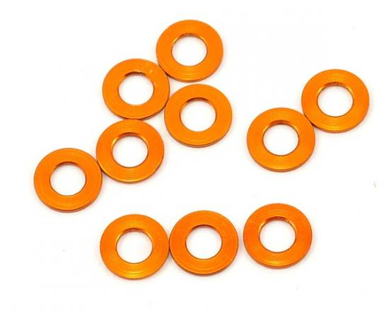 XRay Alu Shim 3X6X0.5mm - Orange (10)