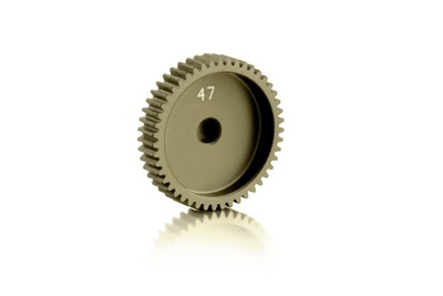 XRay Narrow Alu Pinion Gear - Hard Coated 47T / 64