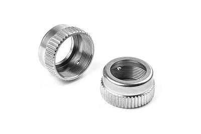 XRay T2 Alu Shock Cap-Nut With Vent Hole (2)
