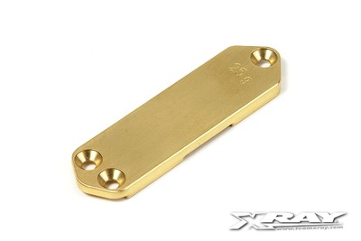 XRay Nt1 Brass Chassis Weight Front 25G