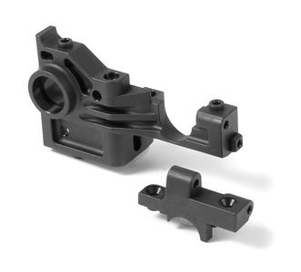 XRay Composite Lower + Upper Bulkhead Rear Left - Extra Roll Center