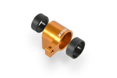 XRay Alu Front Middle Shaft Holder - Orange - Set