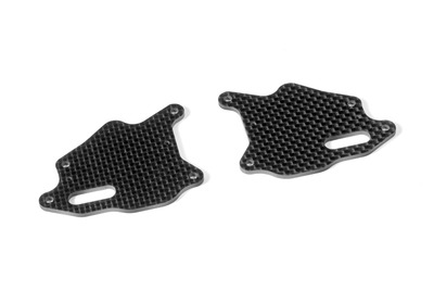XRay Xb8 Graphite Front Lower Arm Plate (2)
