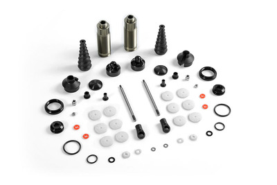 XRay Xb8 Rear Shock Absorbers + Boots Complete Set (2)