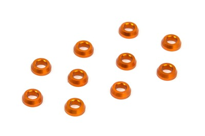 XRay Alu Conical Shim 3X6X2.0mm - Orange (10)