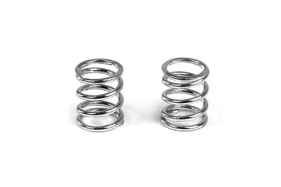 XRay Front Coil Spring 3.6X6X0.5mm; C=4.0 - Silver (2)