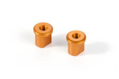 XRay Alu Eccentric Bushing 0.0mm - Orange (2)