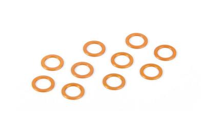 XRay Alu Shim 5.3X7.8X0.5mm - Orange (10)